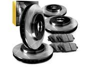 R1 Concepts CPS10870 Premier Series Slotted Rotors And Ceramic Pads Kit - Front and Rear