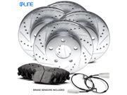 [COMPLETE KIT] eLine Drilled Slotted Brake Rotors & Ceramic Pads CEC.3406702
