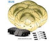 [COMPLETE KIT] Gold Drilled Slotted Brake Rotors & Ceramic Pads CGC.3302602
