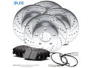 Front and Rear eLine Drilled Slotted Brake Disc Rotors & Ceramic Brake Pad X5,X6 9SIV13S5Y99405