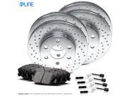 [COMPLETE KIT] eLine Cross-Drilled Brake Rotors & Ceramic Brake Pads CEX.3516302