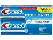 Crest Pro-Health Clean Mint Toothpaste, 4.6 oz, Twin Pack 2 ea