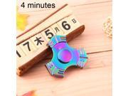 T7 Fidget Spinner Toy Stress Reducer Anti-Anxiety Toy for Children and Adults, 4 Minutes Rotation Time, Steel Beads Bearing + Zinc Alloy Material, Colorful Thre