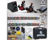 Tattoo Kit 2 Machines Gun 40 color Ink Power supply needle Grip Tip box HW-8GD