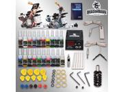 Complete Tattoo Kit 2 Machines Gun 20 color Inks Power supply needles set D175GD