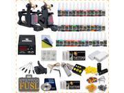 Complete Beginner Tattoo Kit 2 Machine Guns 40 Color inks 20 Needles Power Supply Grip Tip HW-10GD-1 9SIA2HC3FN4192