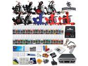 Complete Tattoo Kit 9 Top Machine Gun 40 Color Ink Power Supply Needle D23VD-10