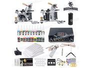 Complete Tattoo Kit needles 2 Machine Guns Power Supply 20 Color Inks HW-21VD 9SIA2HC3FS0531