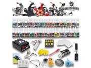 Complete Tattoo Kit Top Machines Color Inks Power Supply Needles Tip D179GD