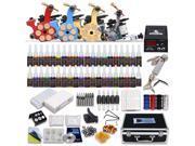 New Tattoo Kit Machines Gun color Inks Power supply needles Grip Tip D139GD 9SIA2HC20R4583