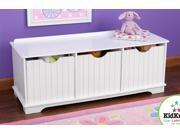 Nantucket Storage Bench (White)