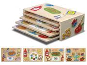 Wooden Holiday Puzzle with Rack - Set of 4 9SIA2HK10B5487