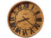 Howard Miller Wine Barrel Wall Clock in Heirloom Oak Finish