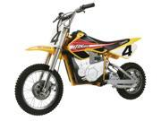 MX 650 Dirt Rocket Electric Motocross Bike In Yellow w Red Accents