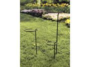 Wrought Iron Flower Pot Stake (8 in. Diameter)