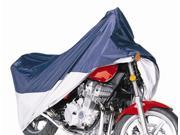 Powersport MotoGear Extreme All-Weather Motorcycle Cover in Blue and Silver (Sport)