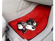 Pair of Boston University Terriers Car Mats w Plush Red Carpet