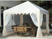 10-Foot Square Gazebo Cover in Almond with Netting