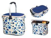 Aluminum Framed Picnic Cooler Basket in Blue