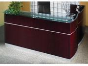 Wooden Reception Desk in Mahogany Finish