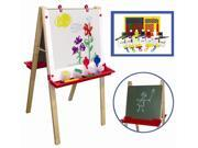 Adjustable Easel & 27 Pc Paint Crate Set