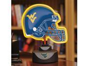 West Virginia Neon Helmet Lamp