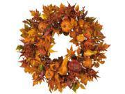 Harvest Wreath in Pumpkin