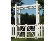 Courtyard Arbor w Gate in White Finish
