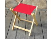 Deluxe Folding Stool in Red
