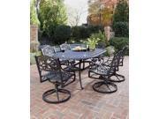 7-Pc Outdoor Dining Set (Black)