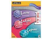"""Apollo C/O Acco World All-Purpose Transparency Film, 8-1/2""""X11"""", 50/Box"""