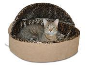 Thermo Kitty Bed in Tan 16 in. Dia. x 14 in. H 1.7 lbs.