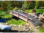 18 ft. Hand Built Short Post Garden Bridge Short Post Bridge Sealed with Lights