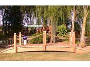 12 ft. Hand Made Rope Rails Garden Bridge 12 ft. Rope Rails