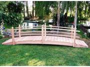 14 ft. Single Rail Span Garden Bridge 14 ft. Single Rail with Lights