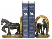 Horse in Horseshoe Bookend