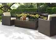 3-Pc Outdoor Conversational Seating Set