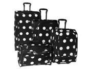 4 Pc Grande Dots Luggage Set in Black