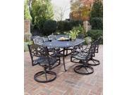 7-Pc Outdoor Dining Set (Rust Brown)