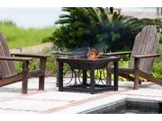 Hammer Tone Cocktail Table Fire Pit