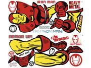 Iron Man Marvel Classics Peel and Stick Giant Wall Decal 9SIA77T2MS5007