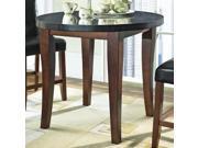 Granite Bello Round Counter Height Table w Black Granite Top