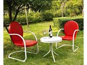3-Pc Steel Outdoor Seating Set