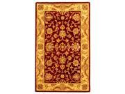Wool Rug in Deep Red with Gold Border (4 ft. x 6 ft.)