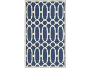 Accent Rug in Royal Blue and White (8 ft. 6 in. L x 5 ft. 6 in. W) 9SIA2HK21R7242