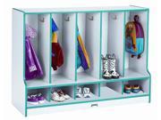 Rainbow Accents Toddler 5 Section Coat Locker w Edge Banding (Green)