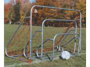 Steel Soccer Goal w Ground Bar Net 6 ft. H x 8 ft. W