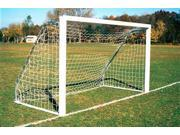 Set of 2 Official Indoor Outdoor Goals 4 in. Sq. Alum. 6.5 ft. x 18 ft.