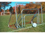 Set of 2 Small sided Steel Soccer Goals 2 ft. x 3 ft. 6 ft. x 18 ft.