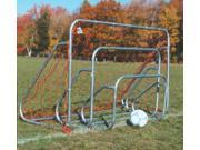 Set of 2 Small sided Steel Soccer Goals w Ground Bar 6 ft. x 8 ft.